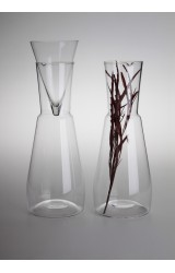 MINIMAL – CARAFE FOR WINE OR WATER, HAND BLOWN GLASS, MADE FROM BOHEMIAN CRYSTAL, LIMITED COLLECTION.