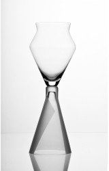 TAI-PÍ  1V  - WINE GLASS FOR RED WINE, HAND BLOWN GLASS, MADE FROM BOHEMIAN CRYSTAL, SANDED DECORATION.